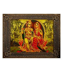Radha Krishna - The Eternal Lovers - Deco Art Wall Hanging