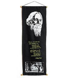 Rabindranath Tagore and His Poetry in Bengali - Wall Hanging