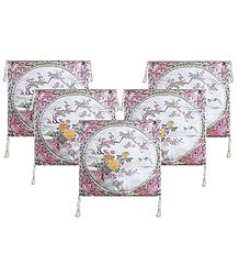 5 Pieces White Satin Silk Cushion Covers