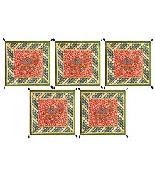 Five Piece Camel Print Cushion Covers
