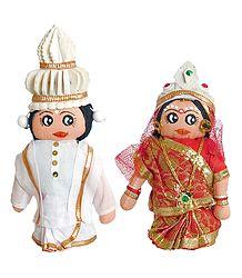 Bengali Bride and Bridegroom Cloth Doll