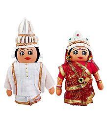 Bengali Bridal Doll - Cloth Doll
