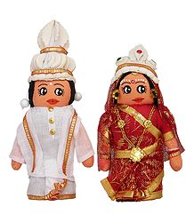 Bengali Bridal Doll - Set of 2