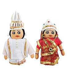 Bengali Bridal Doll - Cloth Doll