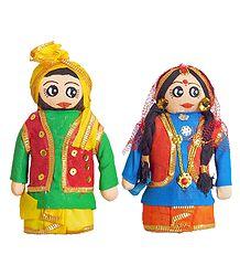 Bhangra Dancers Cloth Doll