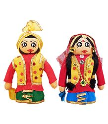 Bhangra Dancers Cloth Doll