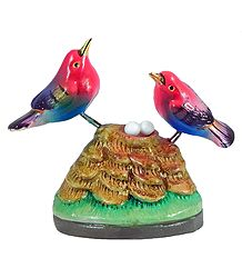 Plaster of Paris Bird Decoration Set