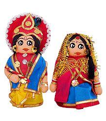 Radha Krishna Cloth Doll