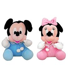 Mickey Mouse and Minnie Mouse - Stuffed Cloth Dolls