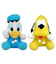 Donald Duck and Pluto - Stuffed Cloth Dolls