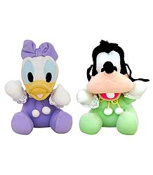 Donald Duck and Goofy - Stuffed Cloth Dolls