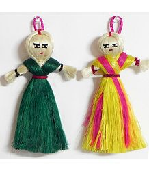 Two Jute dolls - Wall Haning