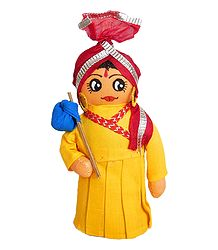 Gujrati Traveller - Cloth Doll