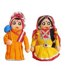 Gujrati Couple - Cloth Doll