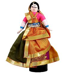 Gujrati Folk Dancer - Wire Doll
