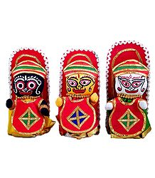 Jagannath, Balaram, Subhadra - Cloth Doll