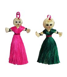 Set of 2 Jute dolls - Wall Hanging