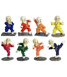 Set of 8 Karate Kids