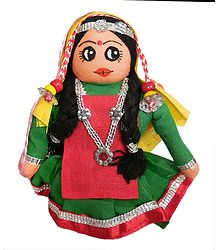 Kashmiri Apple Plucker Girl - Cloth Doll