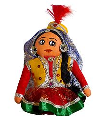 Kathak Dancer - Cloth Doll