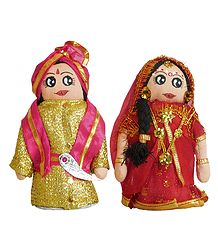 Marwari Bride and Bridegroom Cloth Doll