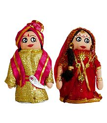 Marwari Bride and Bridegroom Cloth Doll