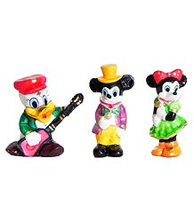 Donald Duck with Minnie and Mickey Mouse - Set of 3