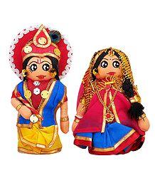 Radha Krishna Doll - Set of 2