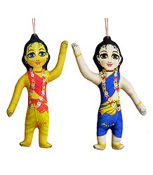 Nitai Gaur - Hanging Cute Cloth Doll