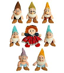 Snow White and Seven Dwarfs - Stuffed Cloth Doll