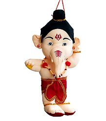 Cute Hanging Ganesha - Stuffed Cloth Doll