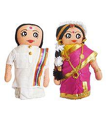 Tamil Bride and Bridegroom Cloth Doll