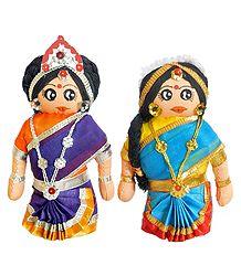 Tamil Couple Cloth Doll