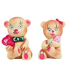 Valentine Teddies - Plaster of Paris