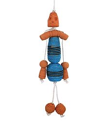 Decorative Terracotta Hanging Doll - Car Hanging