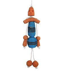 Decorative Terracotta Hanging Doll - Car Hanging