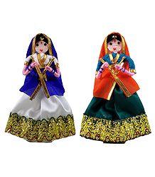 Dandiya Raas Dancers from Gujarat - Wire Doll