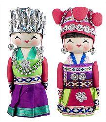 Pair of Chinese Costume Dolls