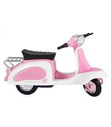 Pink with White Acrylic Toy Scooter