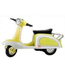 Yellow with White Scooter