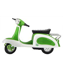 Green with White Scooter