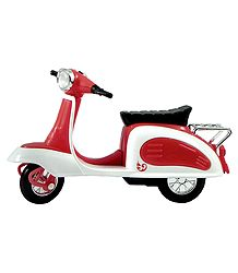 Red with White Acrylic Toy Scooter