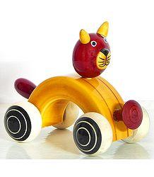 Cat Car - (Chennapatna Toy)