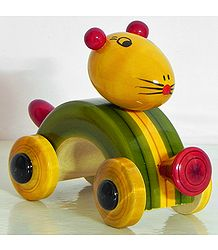 Mouse Car - (Chennapatna Toy)