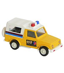 Acrylic Indian Toy Yellow with White Police Van