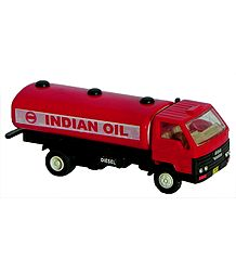 Red Acrylic Toy Oil Tanker