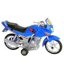 Blue Acrylic Toy Motorbike
