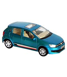 Cyan Blue Acrylic Toy Car