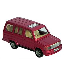 Red SUV Acrylic Toy Car