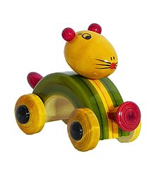 Wooden Mouse Car - Chennapatna Toy